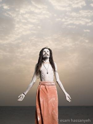 Baba Laxman Giri portrait, Ganges river, Varanasi.